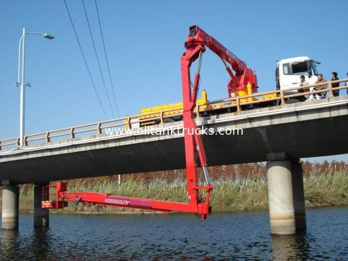 16m Bucket under  Bridge Access Equipment  Bridge Inspection units DONGFENG chassis  6 × 4 drive mode